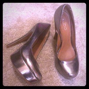 Aldo metallic heels